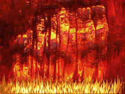 Burnt Digital Art - Fireline by Wendy J St Christopher