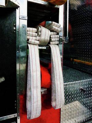 Fireman - Closeup Of Fire Hoses Art Print