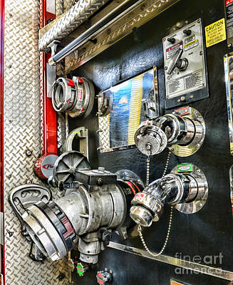 First Responders Photograph - Fireman - Control Panel by Paul Ward