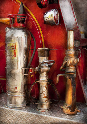 Photograph - Fireman - Fighting Fires  by Mike Savad