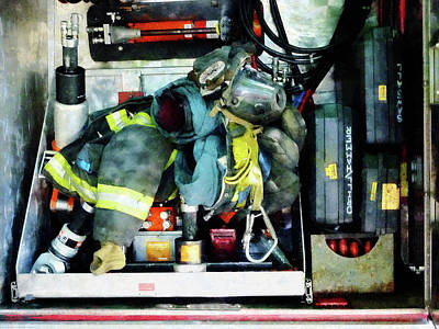 Photograph - Fireman - Fire Engine Gear by Susan Savad