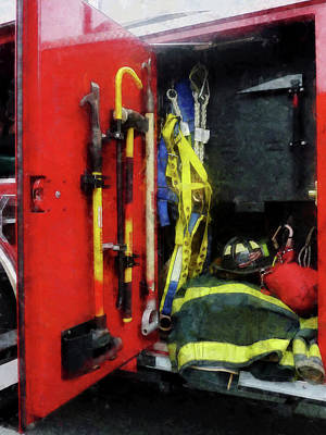 Photograph - Fireman - Fire Fighting Equipment by Susan Savad