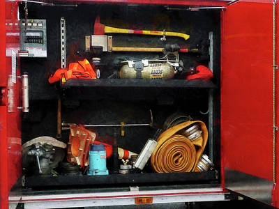 Photograph - Fireman - Fire Fighting Supplies by Susan Savad