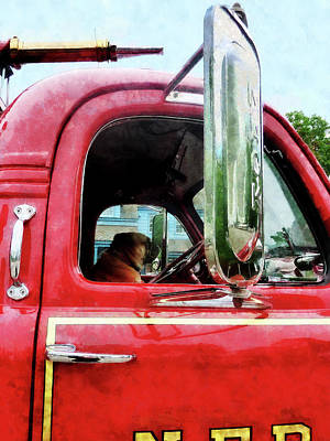 Photograph - Fireman - Fireman's Best Friend by Susan Savad