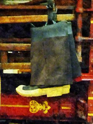 Engine Photograph - Fireman - Fireman's Boots by Susan Savad