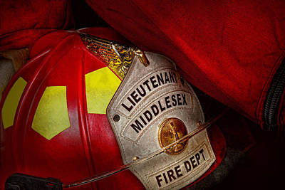 Photograph - Fireman - Hat - Everyone Loves Red by Mike Savad