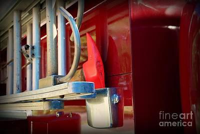 Fireman Hook And Ladder Print by Paul Ward