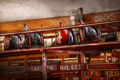 Photograph - Fireman - Ladder Company 1 by Mike Savad