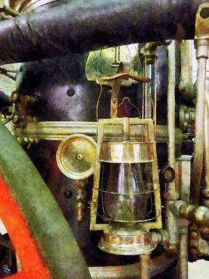 Photograph - Fireman - Lantern On Fire Truck by Susan Savad