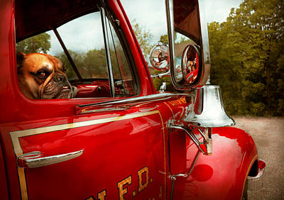 Photograph - Fireman - Mack  by Mike Savad