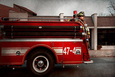 Fireman - Metuchen Nj - Always On Call Art Print by Mike Savad