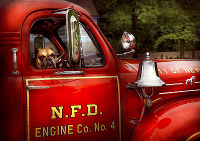 Photograph - Fireman - This Is My Truck by Mike Savad