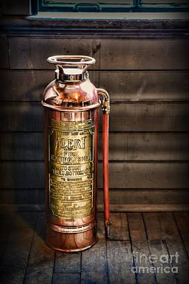First Responders Photograph - Fireman - Vintage Fire Extinguisher by Paul Ward