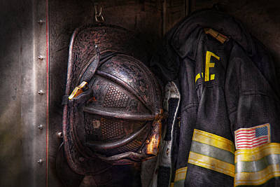 Black Jacket Photograph - Fireman - Worn And Used by Mike Savad