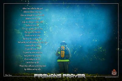 Firemans Prayer Art Print by Mitchell Brown