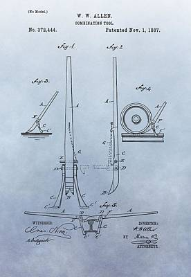 Digital Art - Fireman's Tool Patent by Dan Sproul