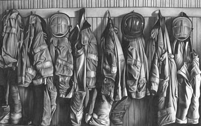 Firemen's Coats Art Print by Jerry Winick