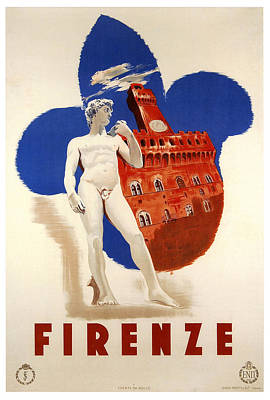 Nomad Digital Art - Firenze 1935 by Georgia Fowler