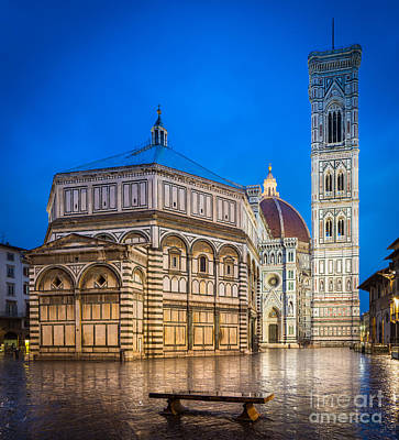 Benches Photograph - Firenze Duomo by Inge Johnsson
