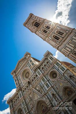 Firenze Duomo Sunburst Art Print by Inge Johnsson