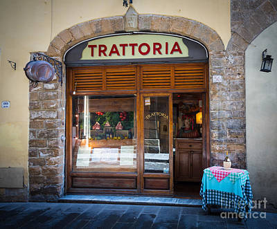 Trattoria Photograph - Firenze Trattoria by Inge Johnsson