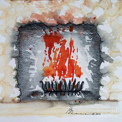 Grate Painting - Hearth by Barbara Chase
