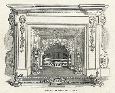 Grate Drawing - Fireplace By Messrs Bailey &  Co by  Illustrated London News Ltd/Mar