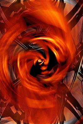 Digital Art - Fireplace Iphone by rd Erickson