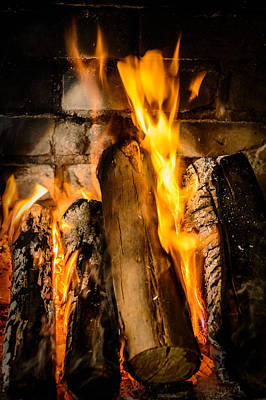Photograph - Fireplace by Marco Oliveira