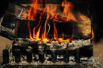 Grate Photograph - Fireplace by Ron Sanford