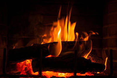 Photograph - Fireplace Serenity by Gene Sherrill