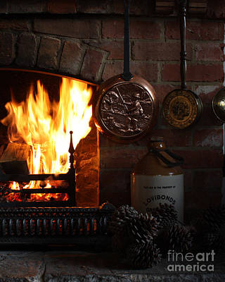 Photograph - Fireplace by Terri Waters