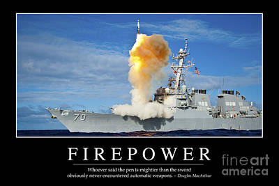 Photograph - Firepower Inspirational Quote by Stocktrek Images