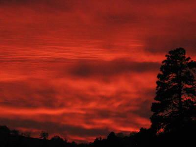 Firery Sky Art Print by Debra Madonna