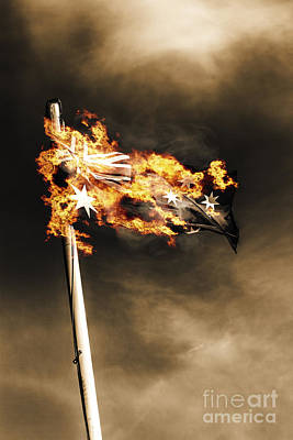 Fires Of Australian Oppression Print by Jorgo Photography - Wall Art Gallery