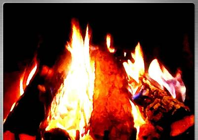 Luminous Digital Art - Fireside by Will Borden