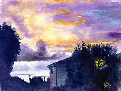 Moody Painting - Fireskies by Ken Meyer jr