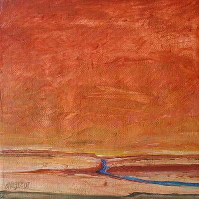 Fire Sky Art Print by Dawn Vagts