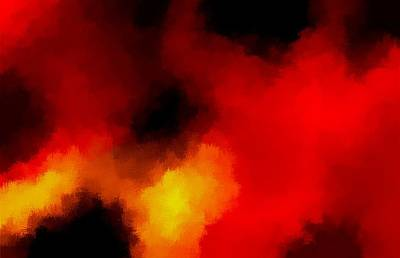 Horrible Painting - Firestorm by L Brown