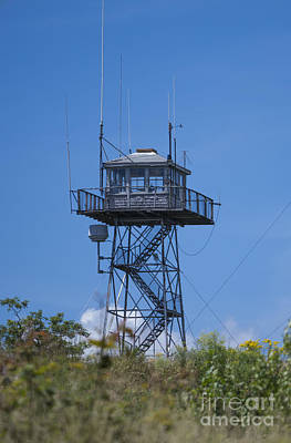 Cape Look Out Photograph - Firetower - Mt  Agamenticus - Maine by Steven Ralser
