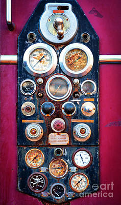 Carnation Photograph - Firetruck Instruments by Inge Johnsson