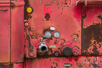 Texas Photograph - Firetruck Red by Ashley M Conger