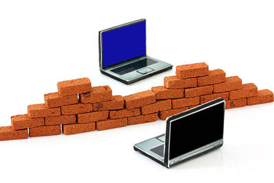 Firewall Protection For Laptops Art Print by Simon Bratt Photography LRPS