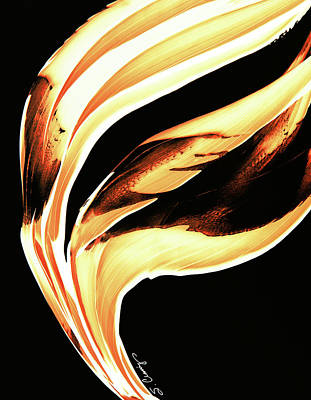 Painting - Firewater 2 - Buy Orange Fire Art Prints by Sharon Cummings