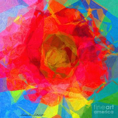 Painting - Firewheel - Gaillardia Pulchella by Susan Schroeder