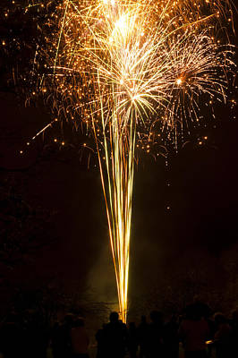 Art Print featuring the photograph Firework Display by David Isaacson