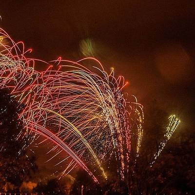 Warwickshire Photograph - Firework Display. #fireworks #display by Arron Peters