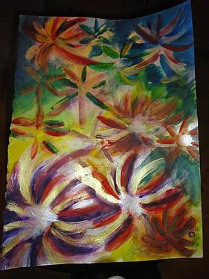 Etc Painting - Firework Flower by Eric Birmingham
