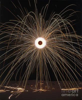 Firework Going Off Art Print