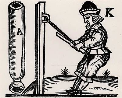 Firework-maker Making A Rocket Art Print by Universal History Archive/uig